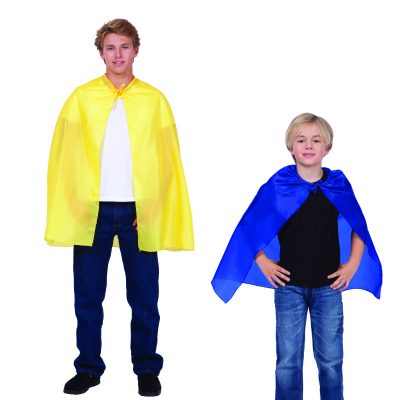 "Yellow 36"" Cape, Blue 26"" Cape"