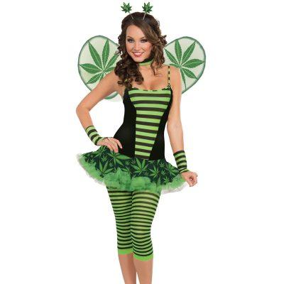 Marijuana leaf bumble Bee costume