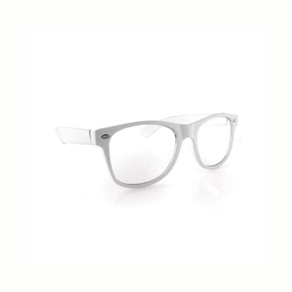 Clear Lens with white plastic frame eyeglasses - Cappel\'s