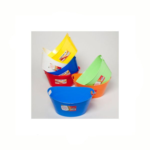 Oval Plastic Tub / Bucket with Handles