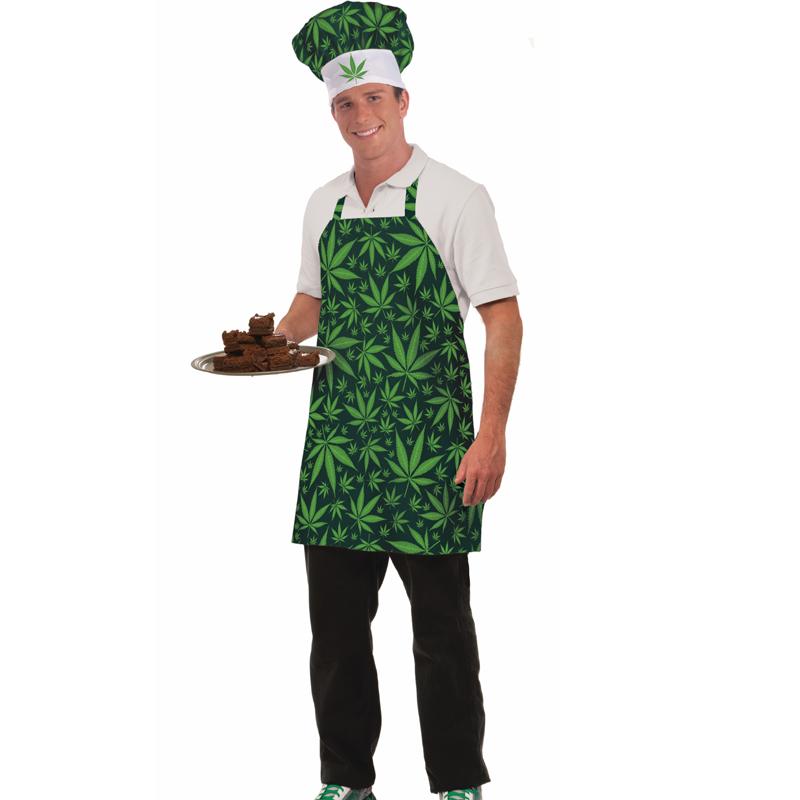 Marijuana Hat Apron Set