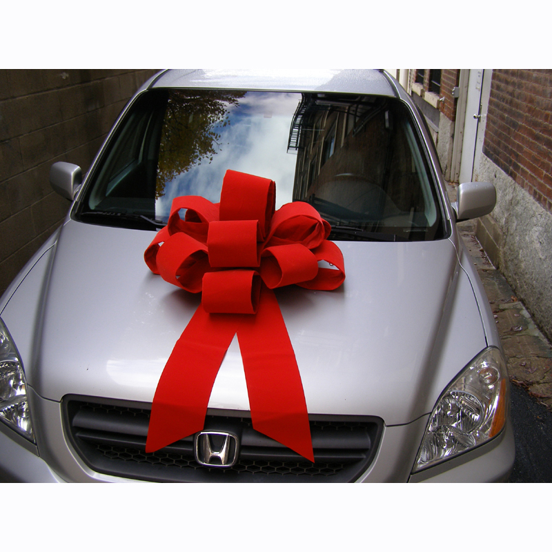 Car Bow Red Velvet