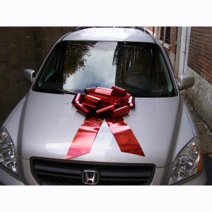 Car Bow Red Metallic