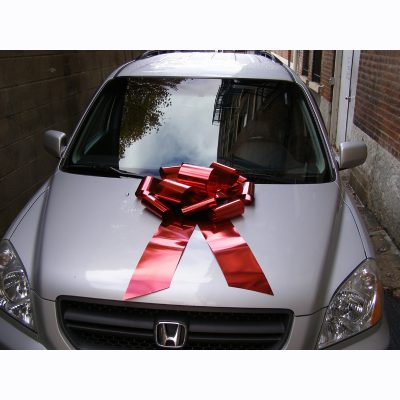 Car Bow Red Metallic