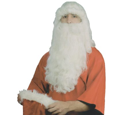 Santa Wig & Beard Set Medium Quality