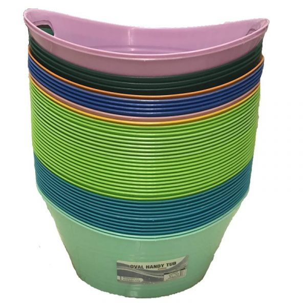 Plastic tubs with handles