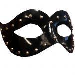Studded Leather Half Mask