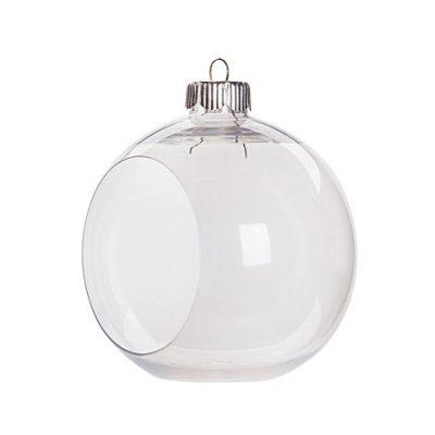 Clear Plastic Scenic Ball Ornament