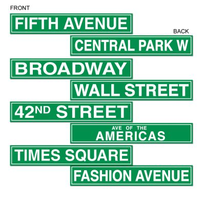 Street Sign Cutouts