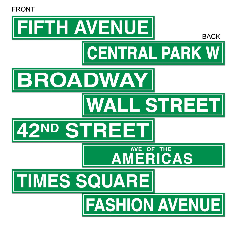 Street Sign Cutouts