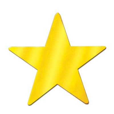 Foil Star Cutout Gold