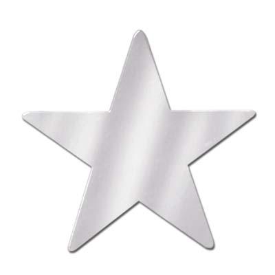 Foil Star Cutout Silver