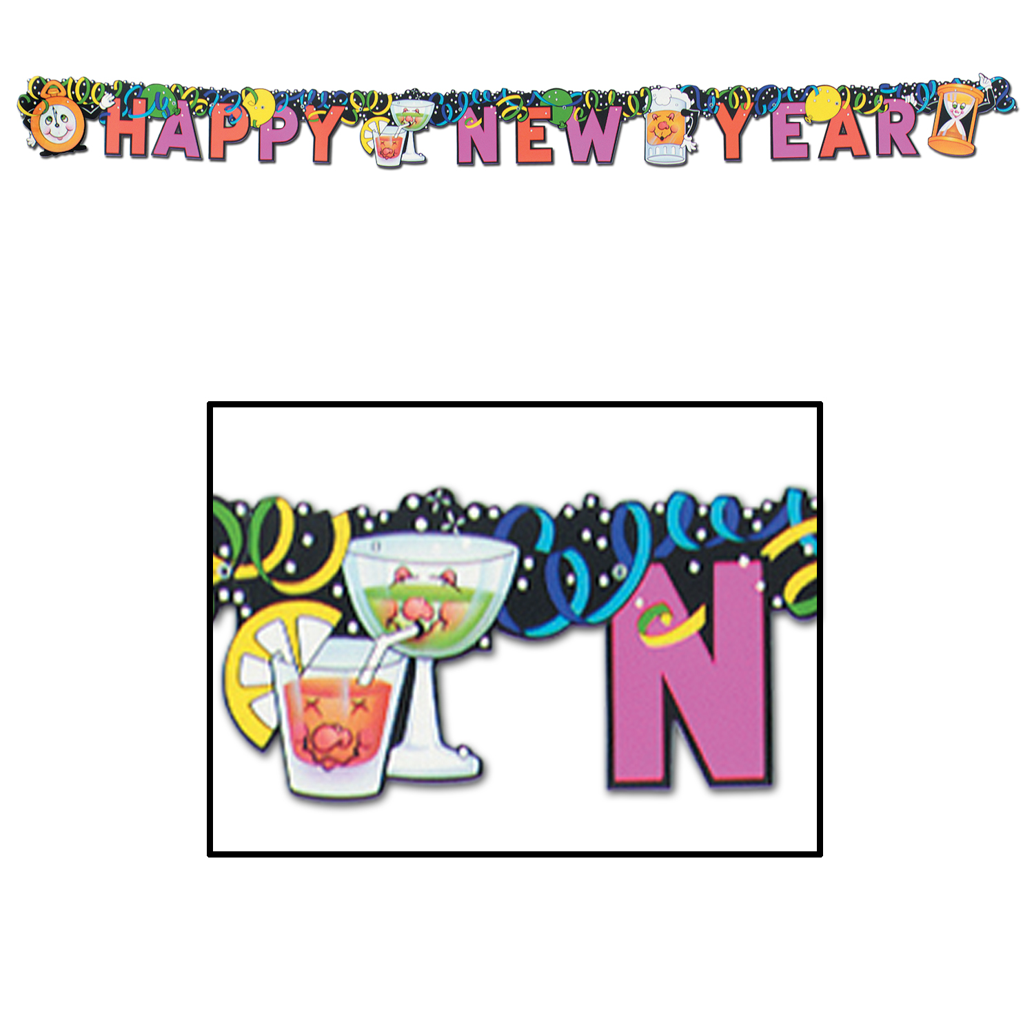 New Years Eve Streamer Happy New Year Streamer - Cappel\'s