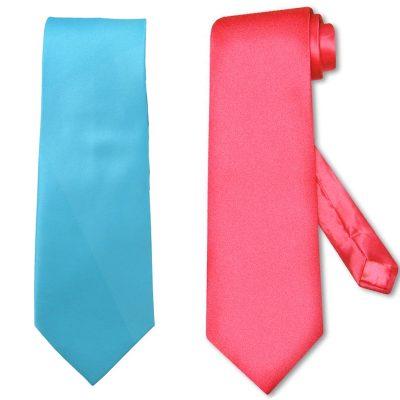 Long Tie Choose Fuchsia or Turquoise