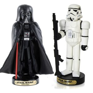 Darth Vader And Storm Trooper Nutcrackers