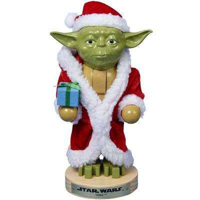 Yoda Nutcracker Red Santa Suit