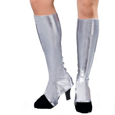 Silver Metallic Shoe Covers / Boot Tops