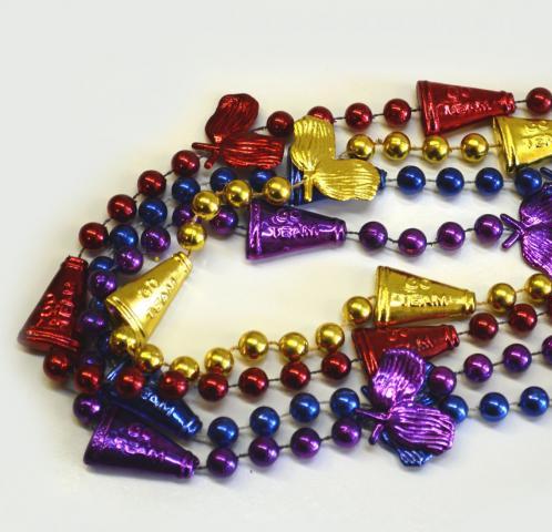 Metallic Spirit Cheer Bead Necklace