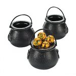 black kettle for candy or coins