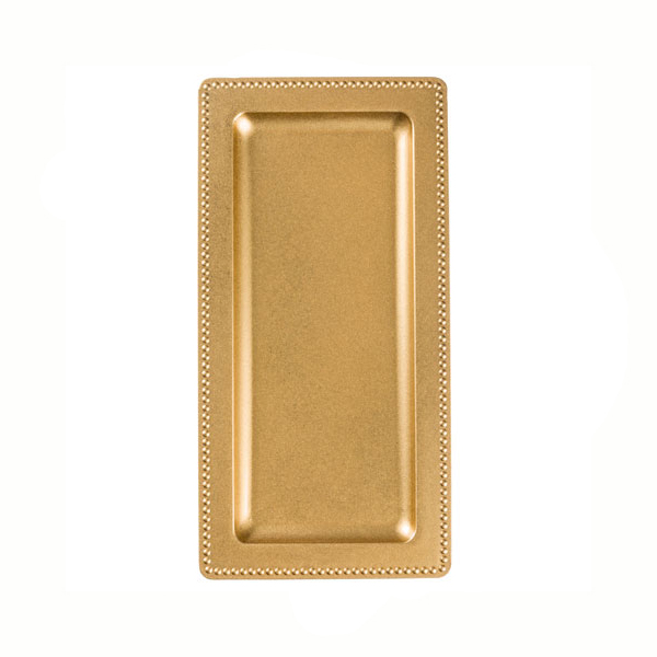 serving tray rectangular gold