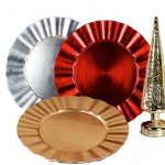 Charger plate round ruffle edge