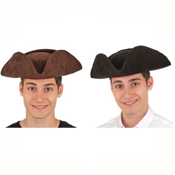 Imitation Suede Tricorne Hat Pirate Revolutionary Soldier