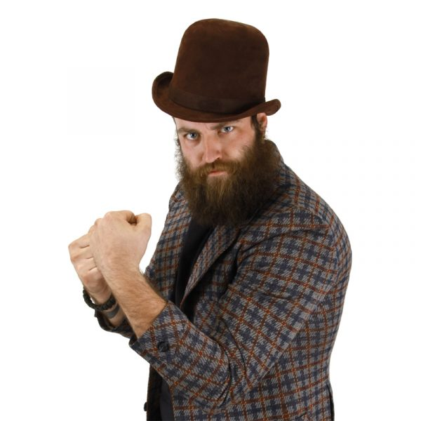 Deluxe felt derby hat brown