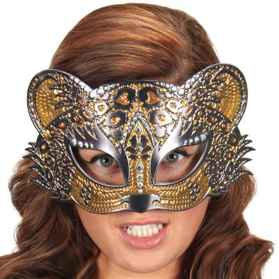 Sparkle Half Mask Raven Leopard Owl Kitty