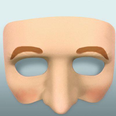Hard Plastic Half Face Mask