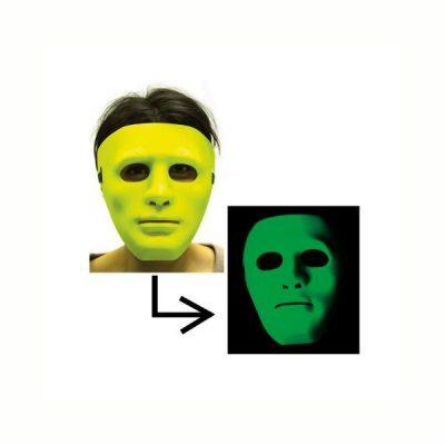 Blacklight mask responsive to black light Lime Green Pink