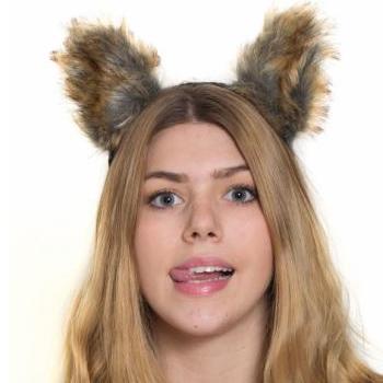 plush animal ears headband fox