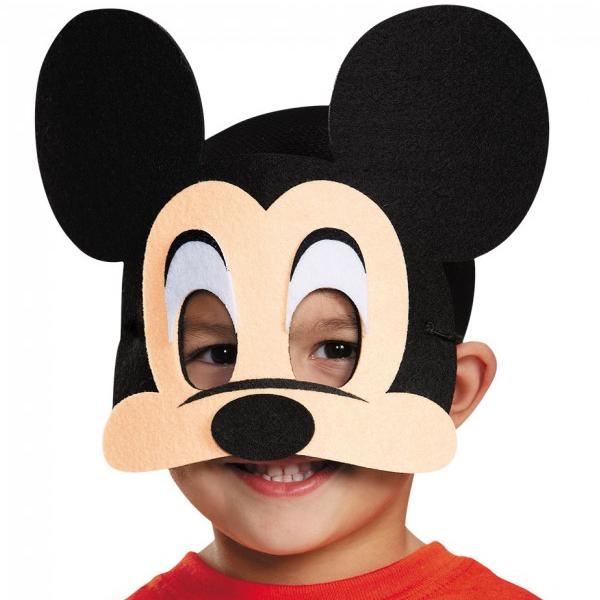 Felt Mickey and Minnie Mouse face masks