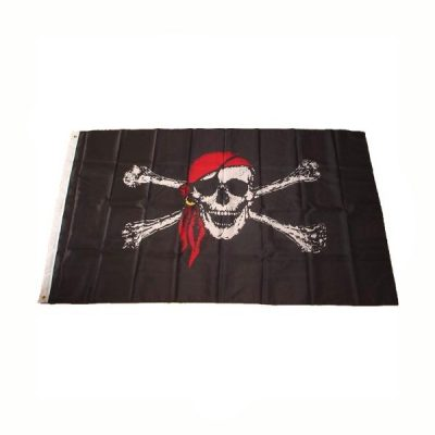 Fabric Pirate Flag and Jolly Rancher Flag