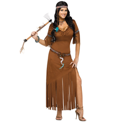Indian Summer Native American Maiden Costume