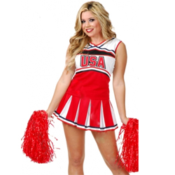 Cheerleader USA Adult Costume