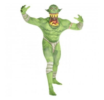 Green Orc Jaw Dropper Morph Suit