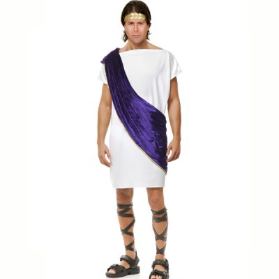 Toga w/ wine colored shoulder drape / sash