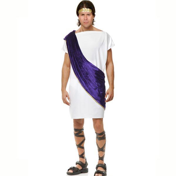 Toga w/ wine colored shoulder drape / sash