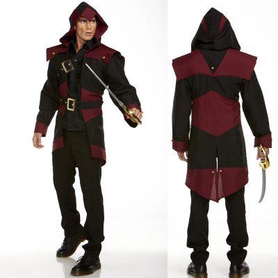 Pirate Assassin Open-Front Coat