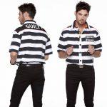 Guilty Prisoner Men's button-down striped shirt
