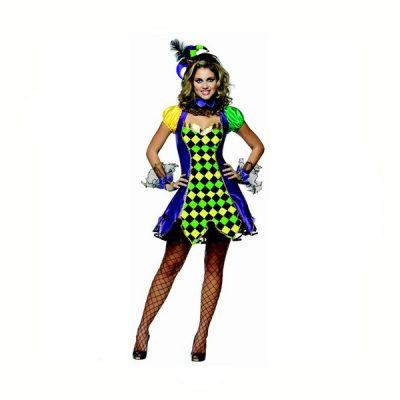 Mardi Gras Jester Costume Dress