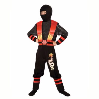 Ninja Fire Dragon Childs Costume