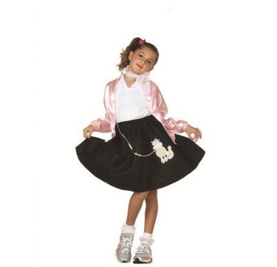 Poodle Skirt - Black, Child Size