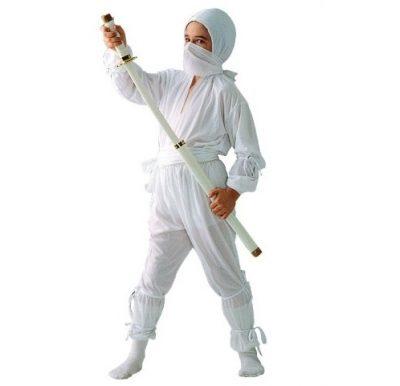 Ninja Child's Costume - All White
