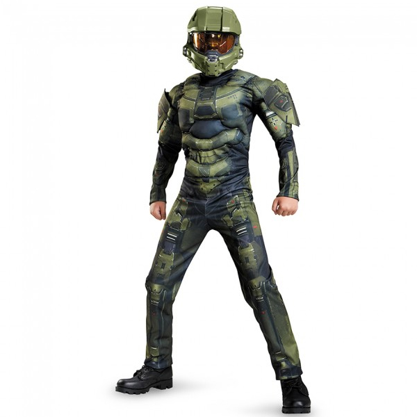 3D Halo Master Chief Jumpsuit Costume