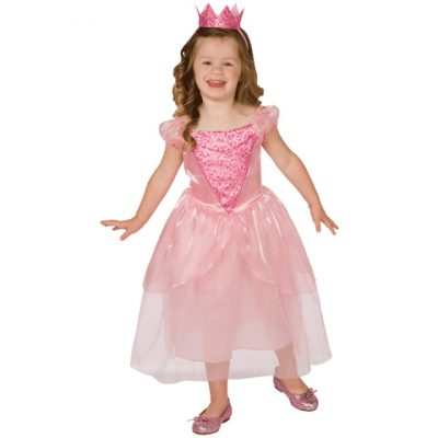 Fairytale Princess Toddler Pink Dress & Crown