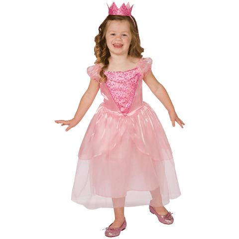 Fairytale Princess Toddler Pink Dress & Crown