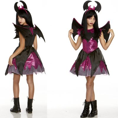 Batty Beauty Bat Dress, Wings & Headpiece
