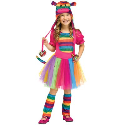 Sock Monkey Rainbow Child's Costume