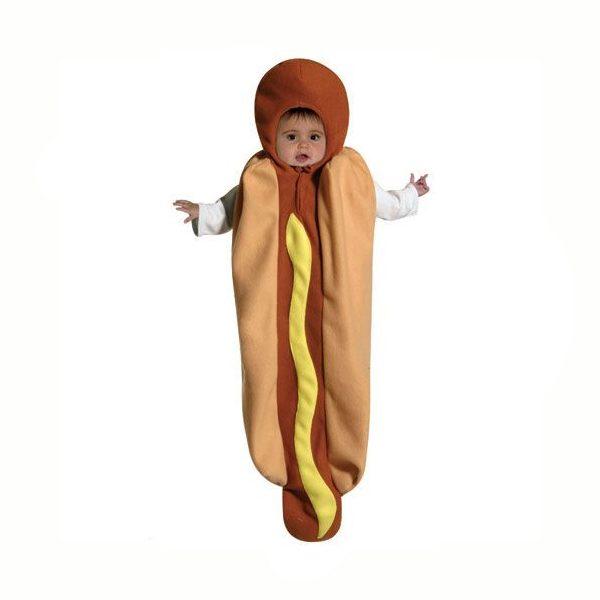 Hot Dog Costume Baby Bunting